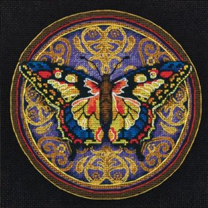 65095 Gold Petite Ornate Butterfly