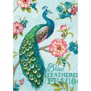 70-65146 Gold Petite Blue Peacock